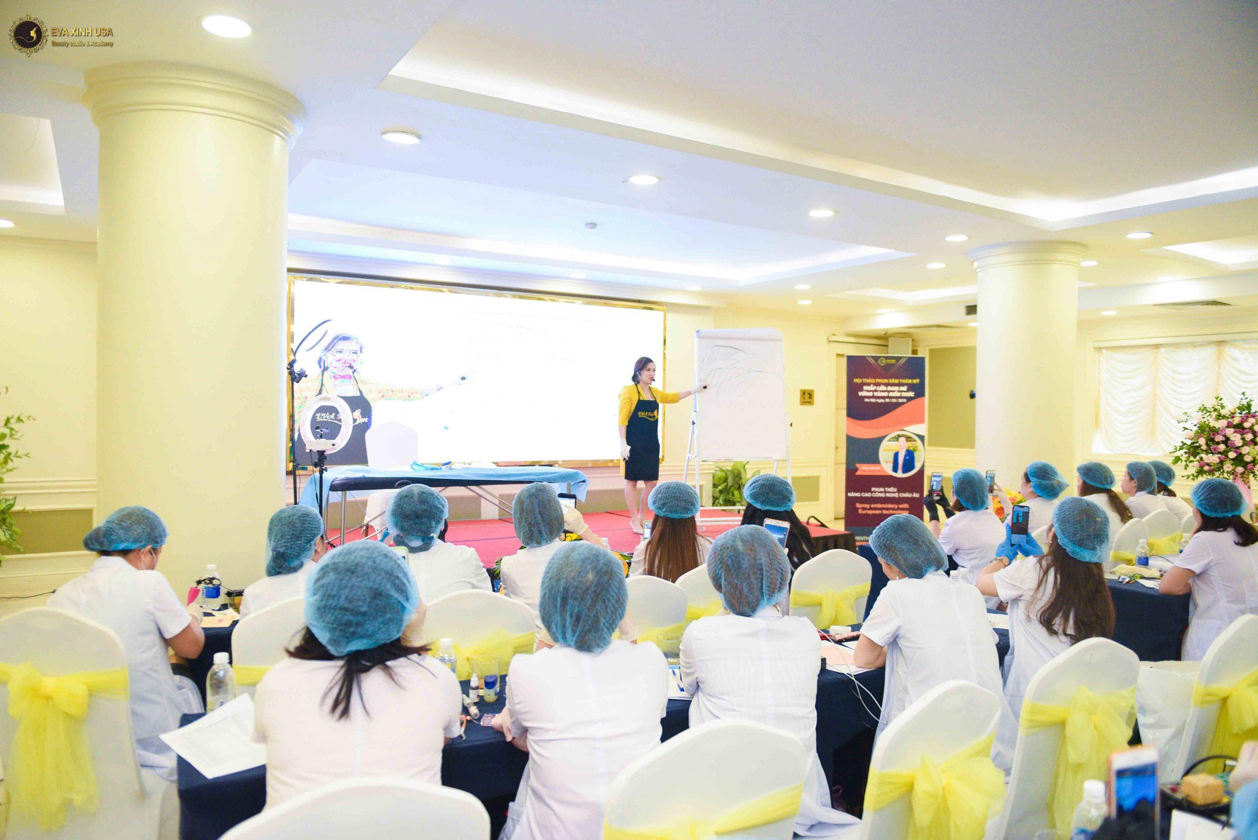 Địa chỉ phun xăm đẹp ở Hà Nội tại Học viện Eva Xinh