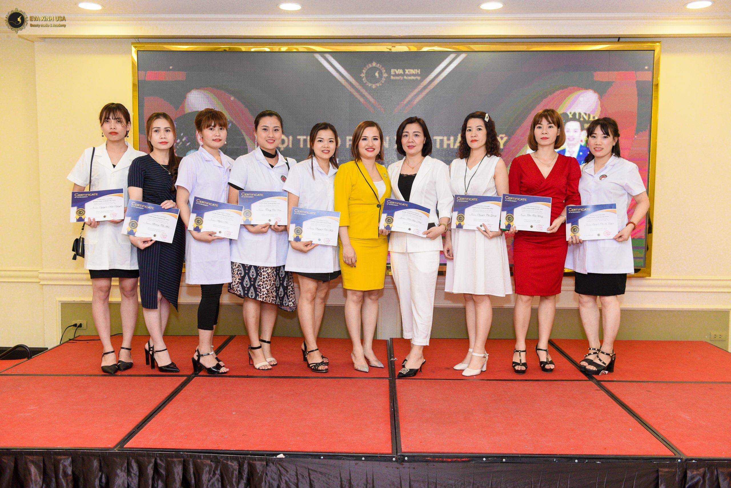 Địa chỉ dạy phun xăm uy tín được cấp chứng chỉ tốt nghiệp của sở LĐTBXH