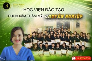 Eva Xinh học viện đào tạo phun xăm thẩm mỹ chuyên nghiệp