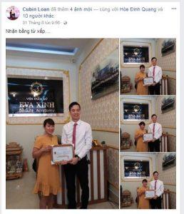 Học phun xăm thẩm mỹ tại Học viện Eva Xinh